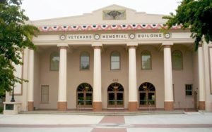 Veterans Memorial Building in Hollister, CA hosts American Legion Riders convention in April 2017