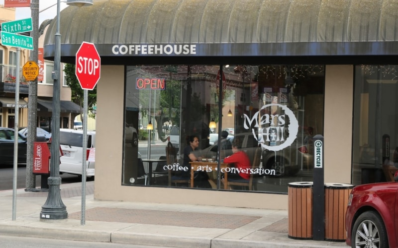 Coffeehouse on San Benito Street in downtown Hollister, CA