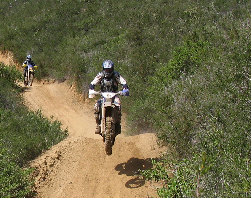 Dirt bike riders at Holliser Hills SVRA