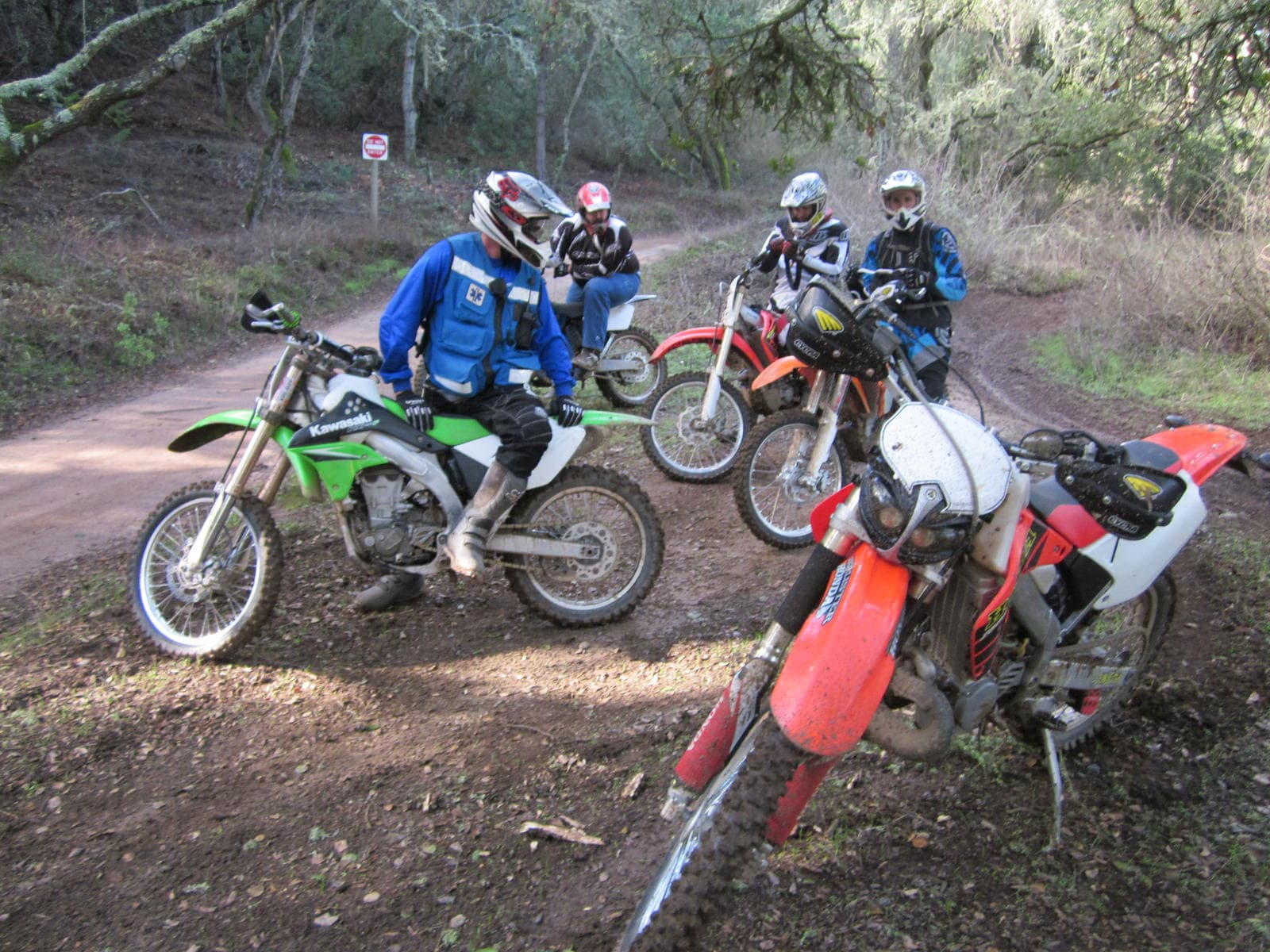 Group of dirt bike riders at Hollister Hills State Vehicular Recreation Area