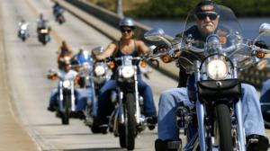 Harley Davidson riders in California