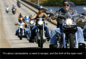 Harley Davidson riders in California